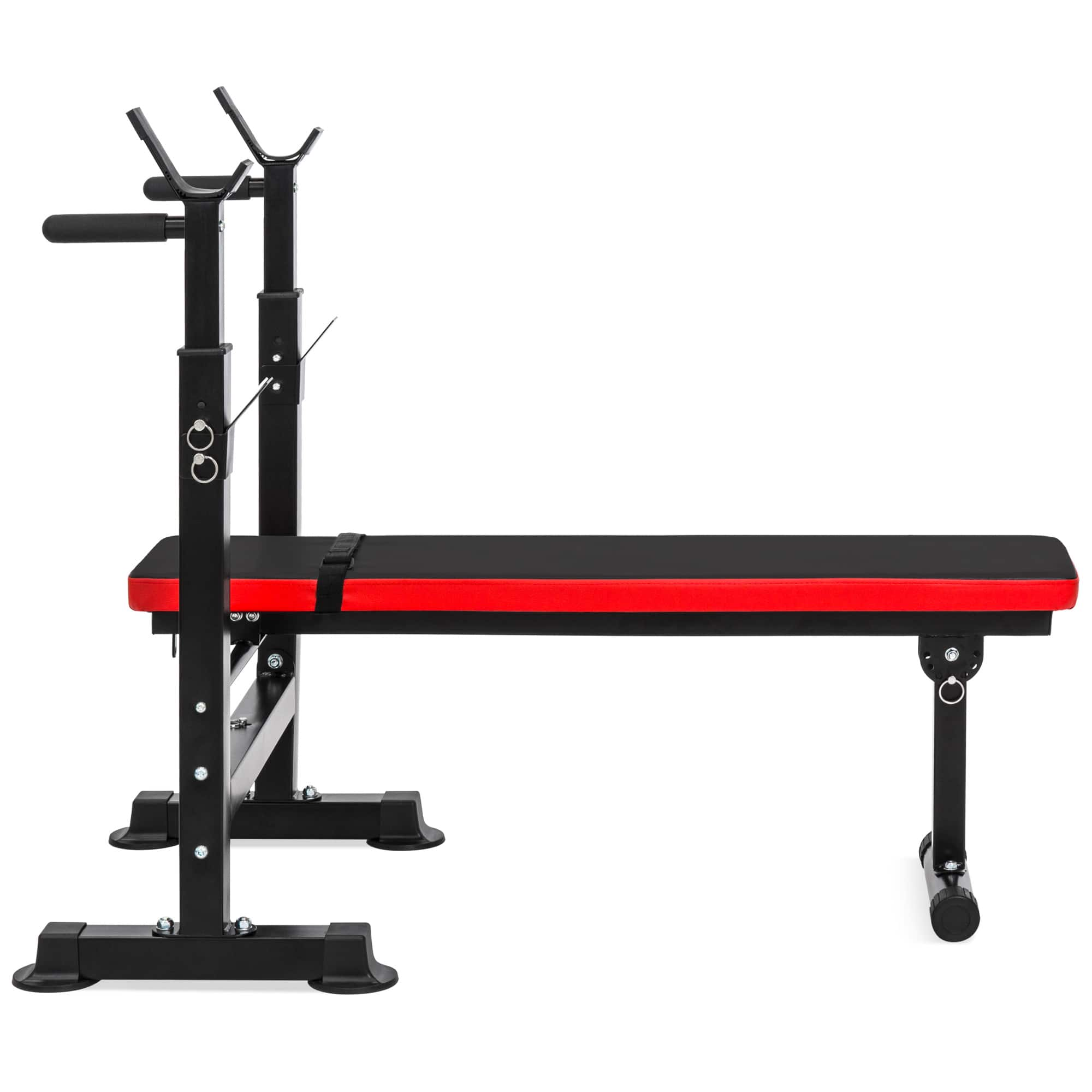 Best Choice Products Adjustable Barbell Rack - $100