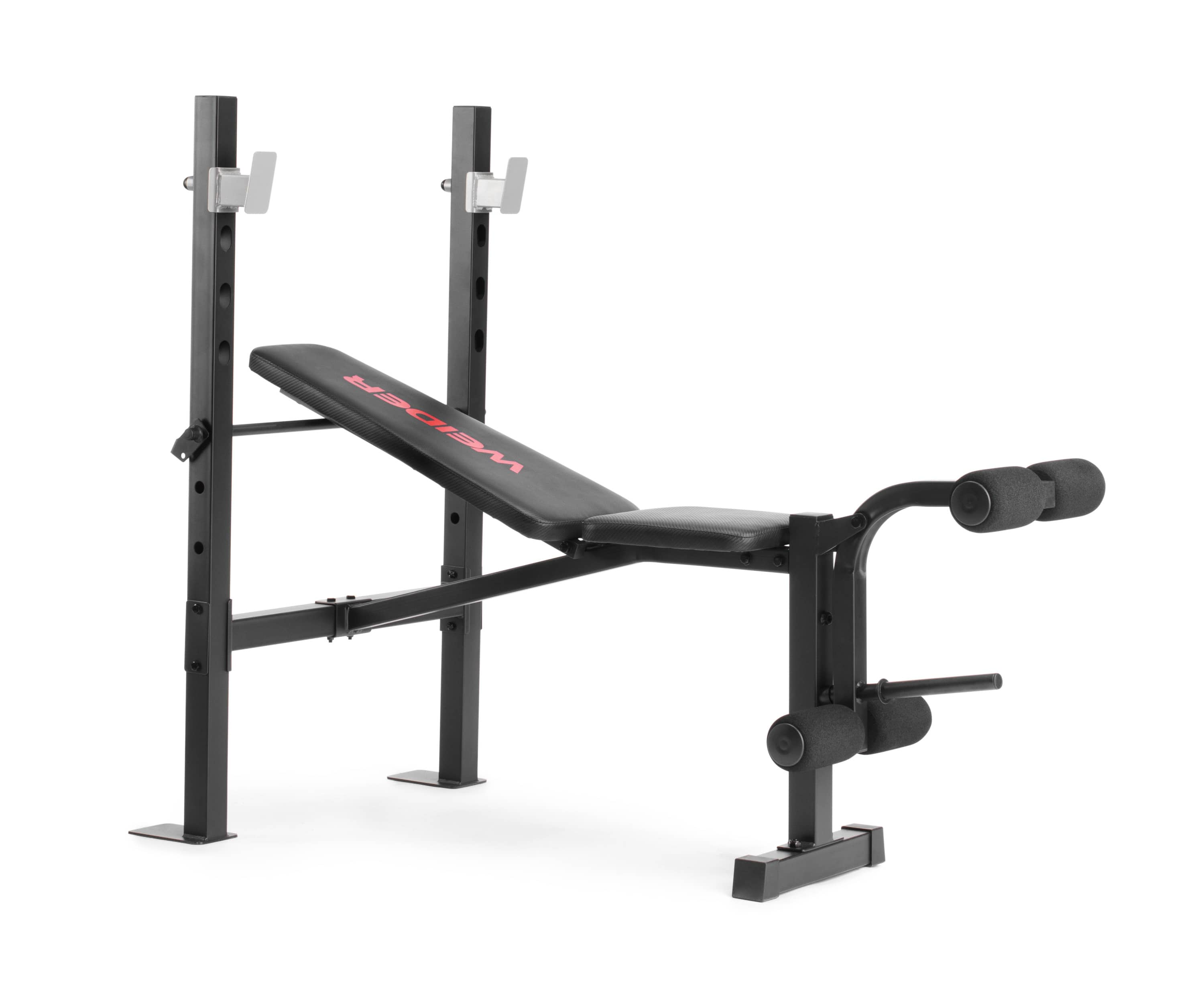 Weider Legacy Standard Weight Bench and Rack with Fixed Uprights, Foam Roll Leg Developer - $89