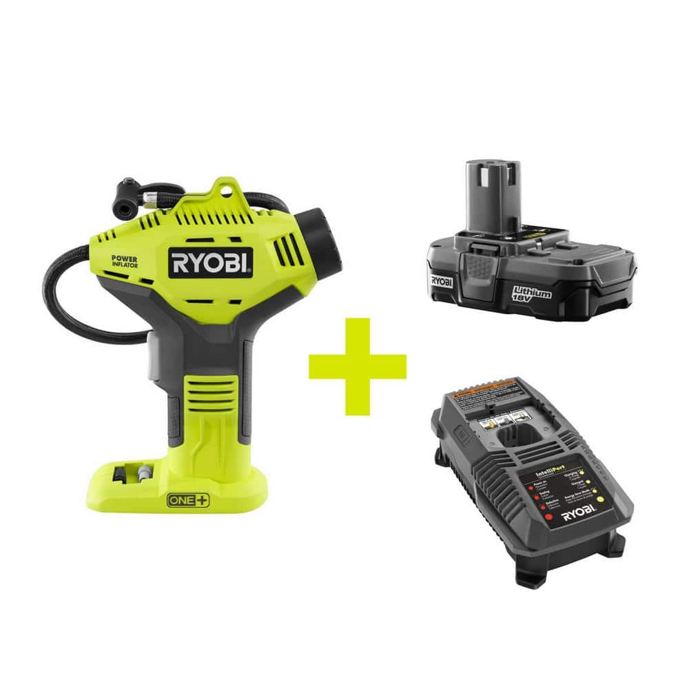 Ryobi 18-Volt 1+ Power inflator Kit (Lithium Battery and Charger Included) $59 at Home Depot (online only)