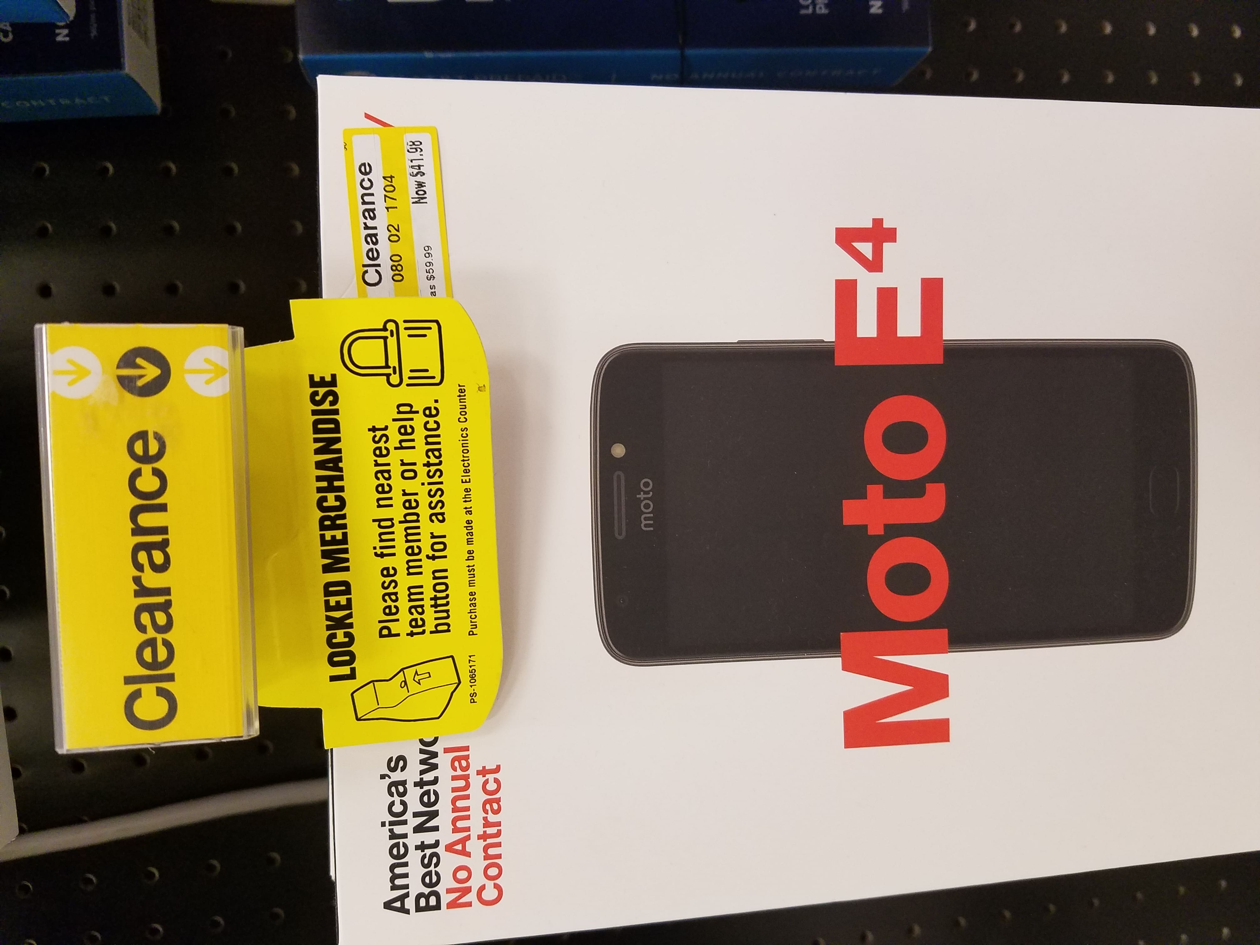 Verizon Prepaid Moto E4 Clearance at Target (In-Store Only