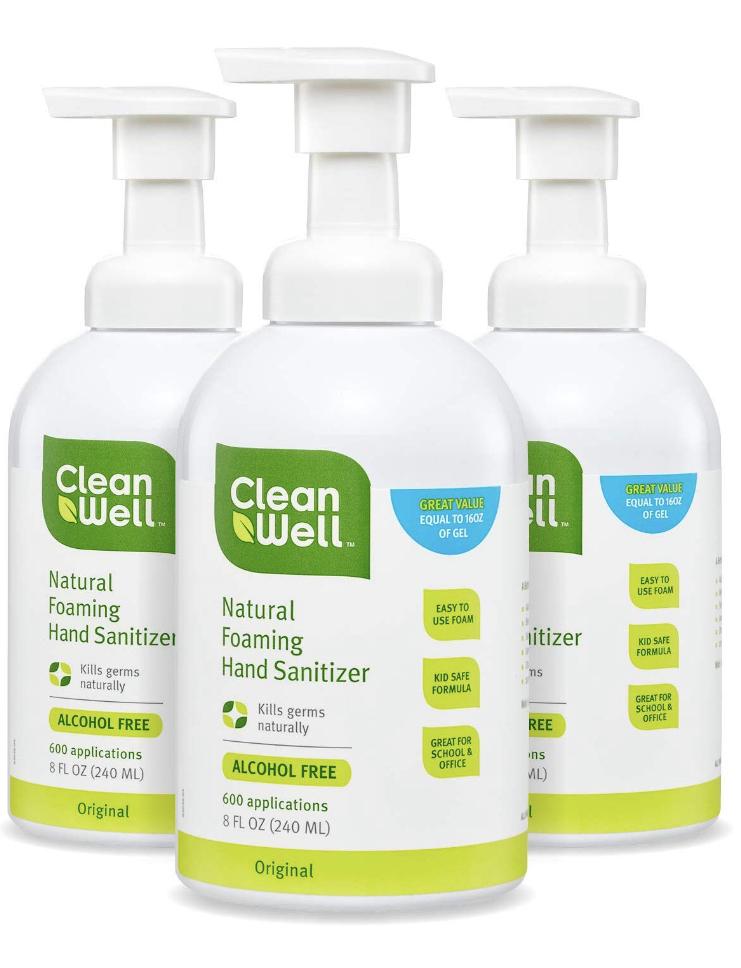 CleanWell Botanical Foaming Hand Sanitizer on Sale- Amazon $16.45