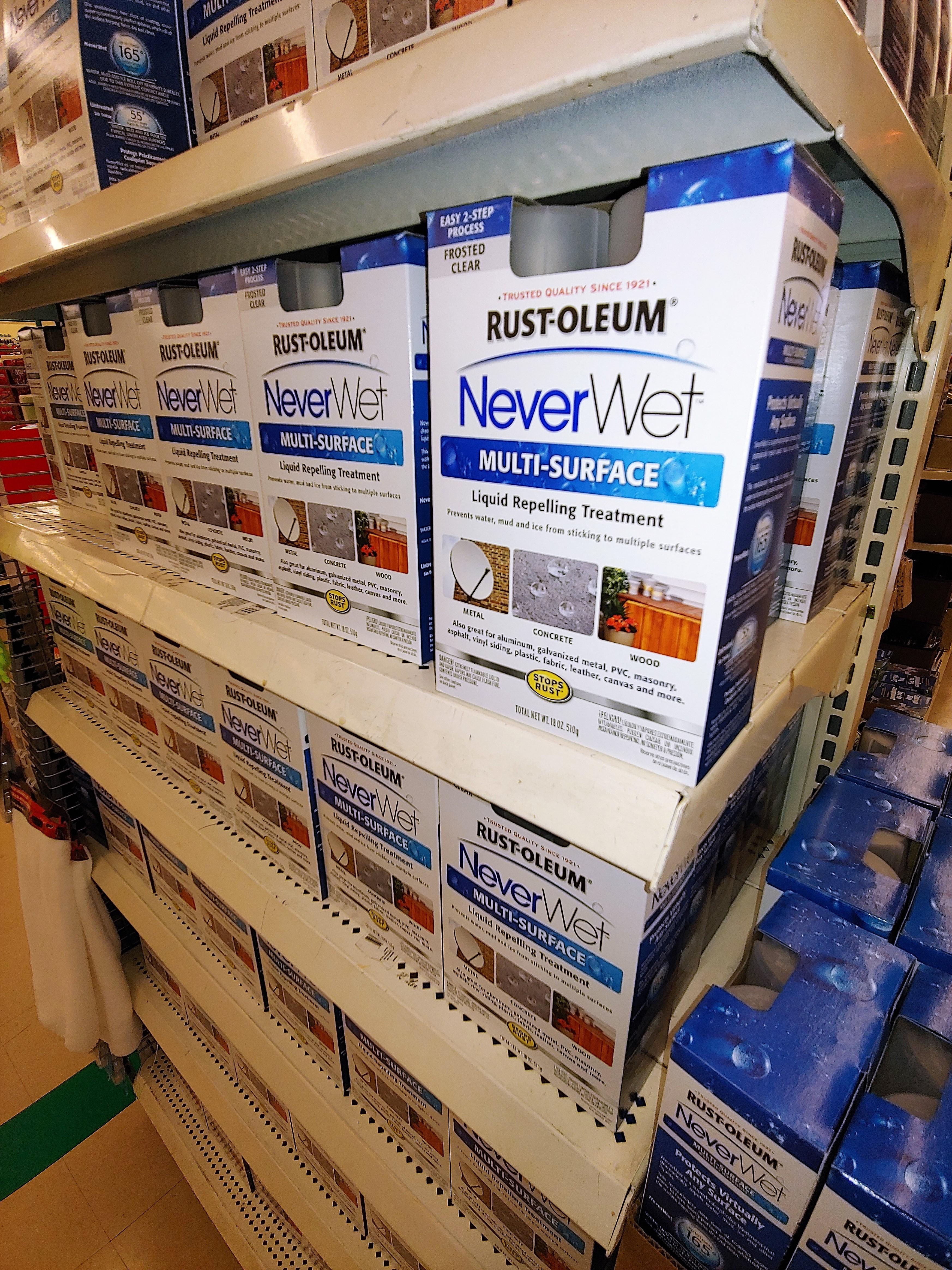 Rustoleum NeverWet 2-Step Liquid Repelling Treatment $1 at Dollar Tree