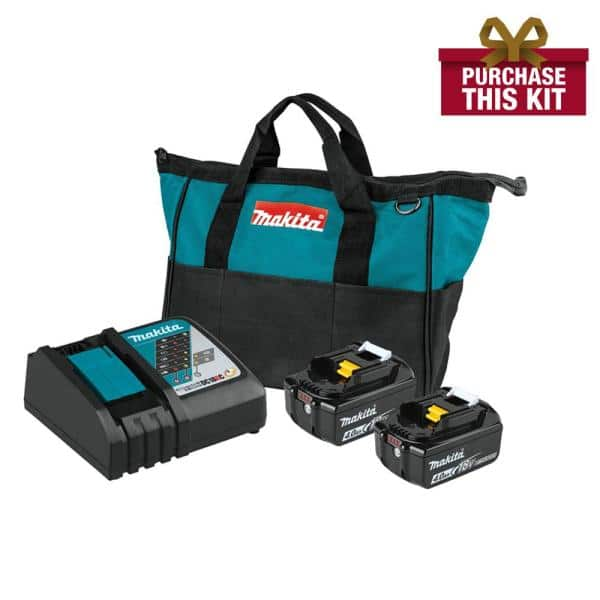 Makita 18-Volt LXT Lithium-Ion 4.0 Ah Battery and Rapid Optimum Charger Starter Pack2, plus two 5Ah. $177.56 .  YMMV
