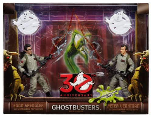 Mattel Ghostbusters Peter Venkman and Egon Spengler Figures 30th Anniversary Set 50% off $24.99