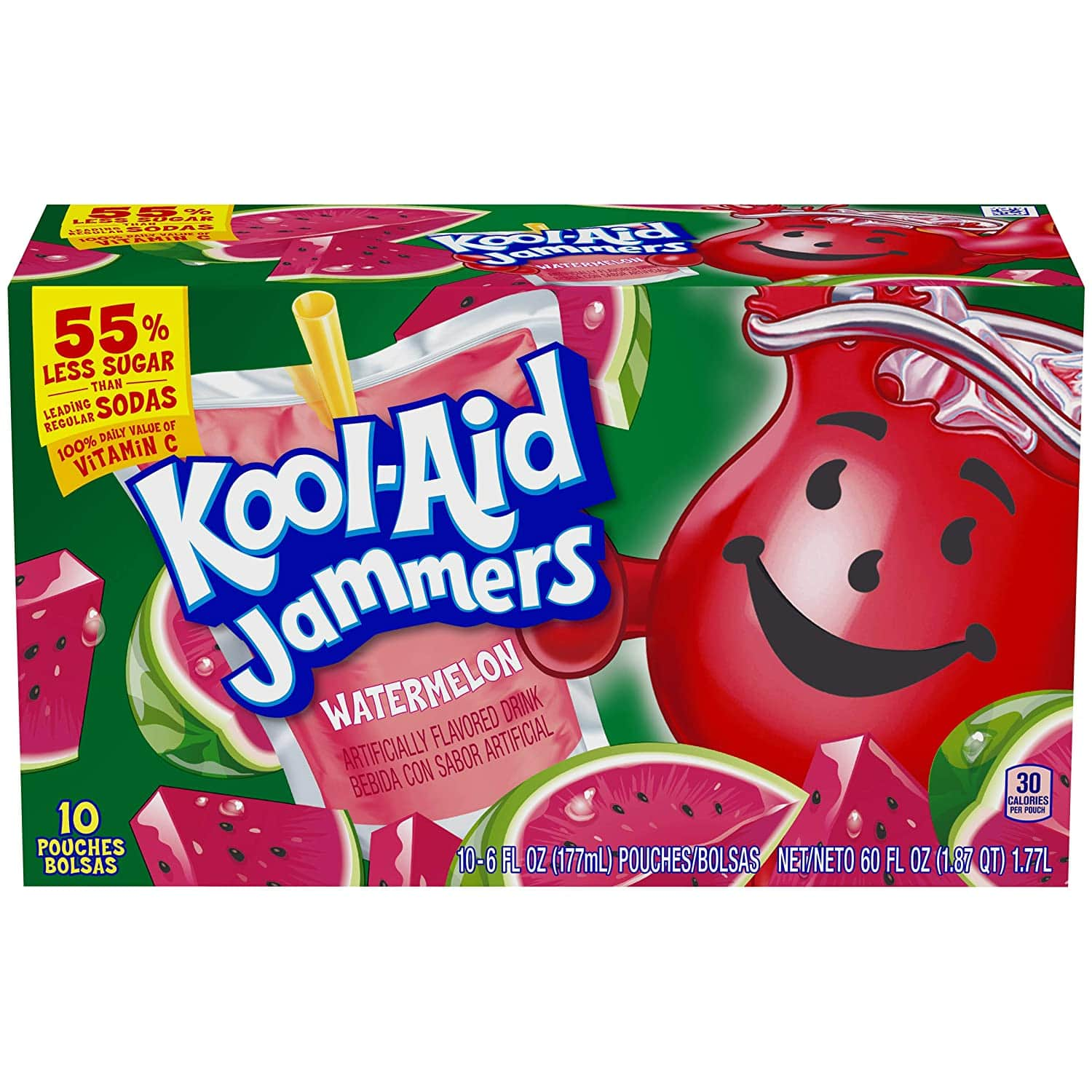 Kool-Aid Jammers Watermelon Flavored Juice Drink (10 Pouches) $1.44