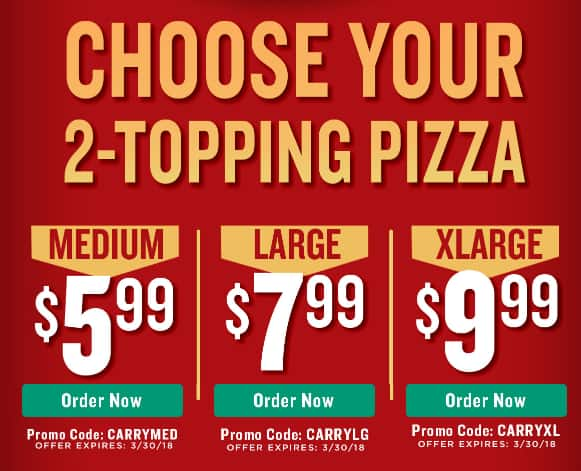 picture relating to Papa Johns Printable Coupons known as Papa Johns pick out your 2 Topping Measurement-Carryout $5.99 Med