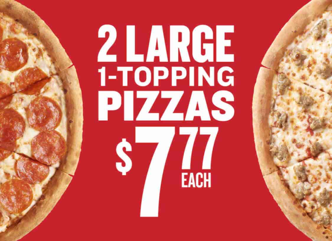 photograph about Papa Johns Printable Coupons referred to as Lengthy: Papa Johns Take 2 substantial 1-topping pizzas for merely