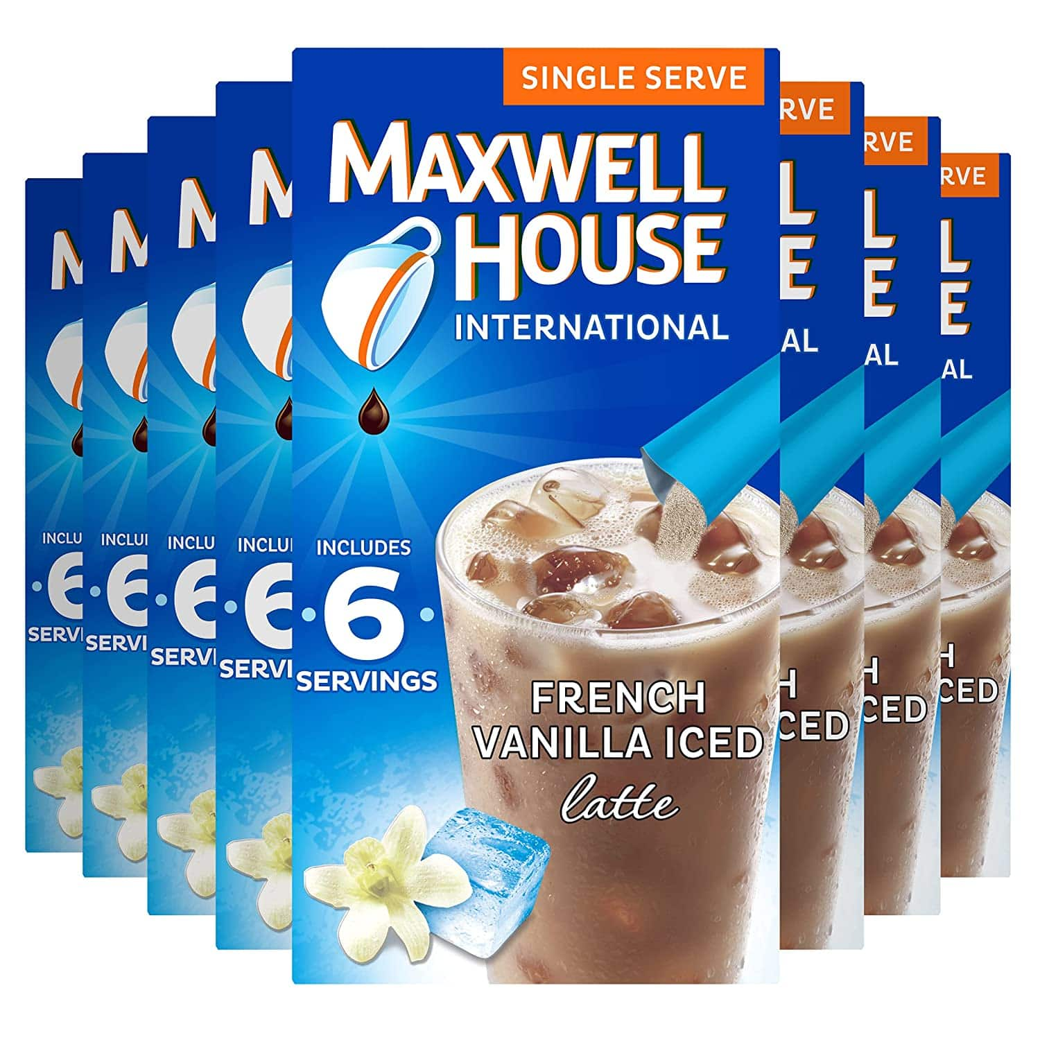 Maxwell House French vanilla instant coffee 48 ct., 8 boxes of 6 - $8.24 with 15% s&s and coupon ymmv