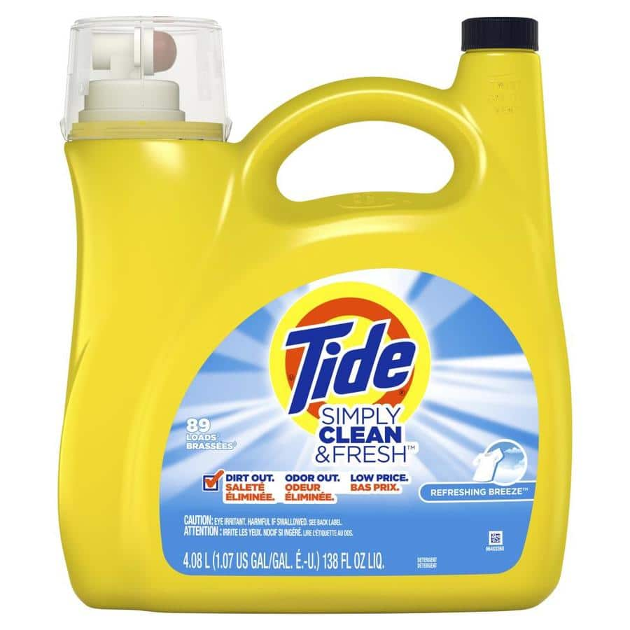 Tide Simply Clean & Fresh Liquid Laundry Detergent, Refreshing Breeze, 89  Loads 138 fl oz $6 78