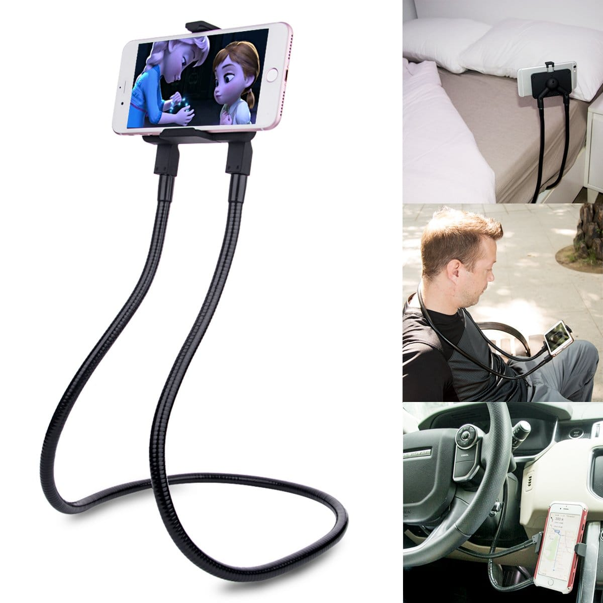 B-Land Cell Phone Holder, Free Rotating Mounts ,Universal Mobile Phone Stand (Black) $13.25