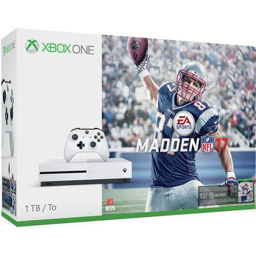 Xbox One S Madden NFL 17 Bundle (1TB) + Xbox One Game + Wireless Controller + Free Shipping - Bundle Deal $349