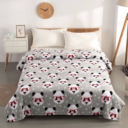 Mainstays Plush Twin Panda Bed Blanket $4.21+Free Store Pickup