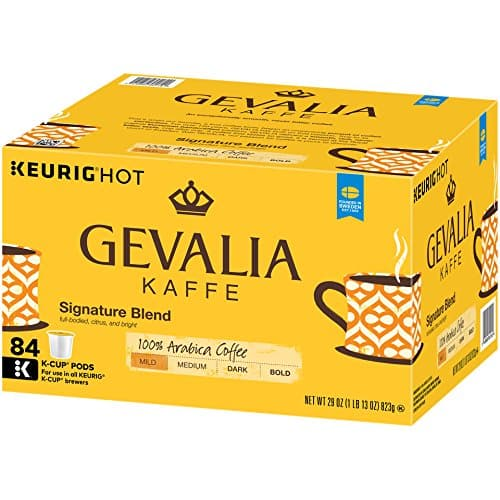 GEVALIA Signature Blend Coffee, Mild, K-CUP Pods, 84 Count $29.38