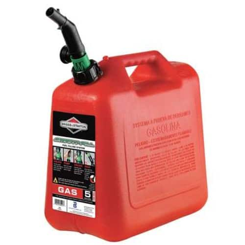 Briggs & Stratton 85053 5-Gallon Gas Can Auto Shut-Off $9 double stack cupon and Chase offer