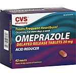 42ct Omeprazole Acid Reducer Tablets  $9.80 & More + Free Shipping