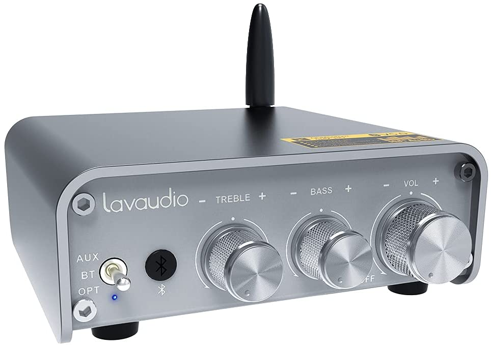 Lavaudio Mini Bluetooth Audio Amplifier Receiver, 2.1 Channel Hi-Fi Stereo Amplifier Home Audio 100Wx2 $54.50 + FS
