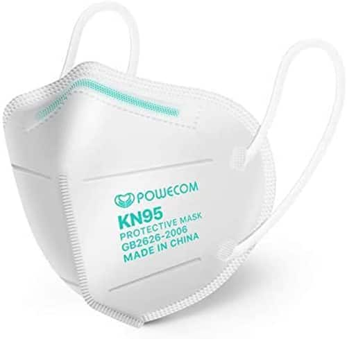 10-Pack White Powecom KN95 FDA Authorized Respirator Ear Loop Masks ($7.50 + Free Shipping)