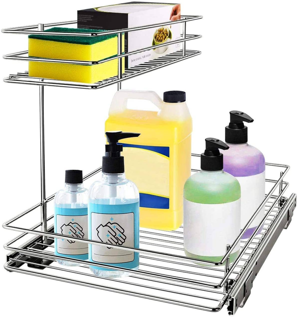G-TING Pull Out Cabinet Organizer, Under Sink Slide Out Storage Shelf with 2 Tier Sliding Wire Drawer $26.49 + FS with PRIME