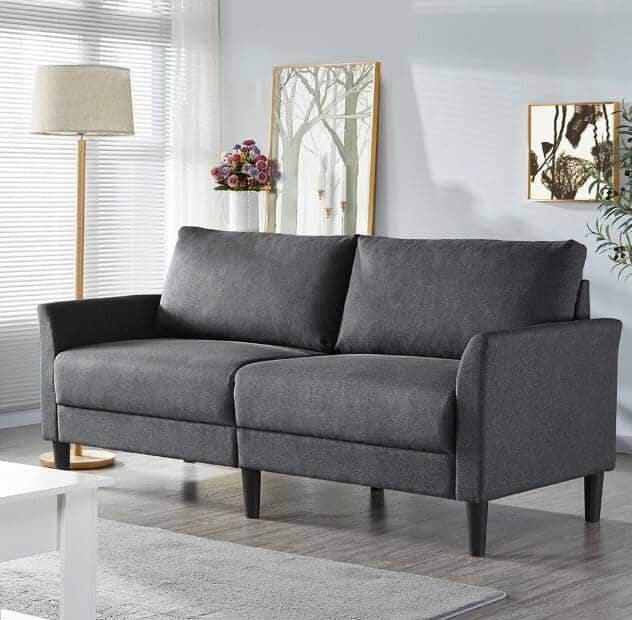 """Walmart: SmileMart 75.5""""W Linen Fabric Couch Upholstered Sofa for Living Room $269.99 + Free shipping"""