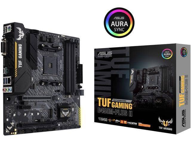 ASUS TUF GAMING B450M-PLUS II AM4 AMD B450 SATA 6Gb/s Micro ATX AMD Motherboard for $79.99 + F/S