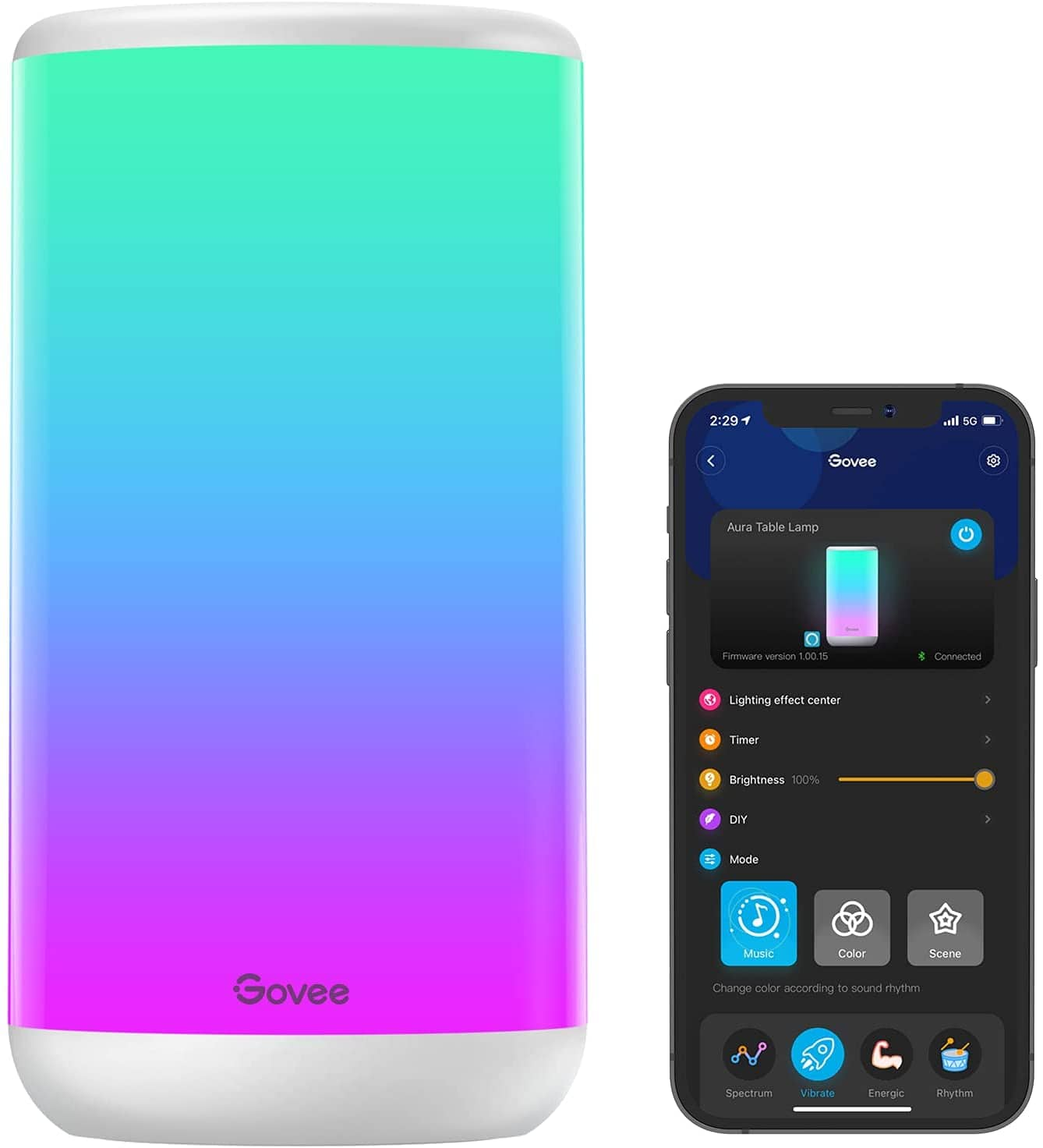 Govee Smart  RGBIC Table Lamp, App Control with Scene Modes and Music Mode, Works with Alexa & Google Assistant-$41.99 + FS