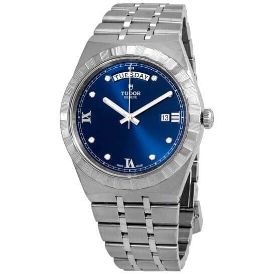 TUDOR Royal Automatic Diamond Blue Dial 41 mm Men's Watch M28600-0006 - Extra $200 Off Coupon $2350 + FS