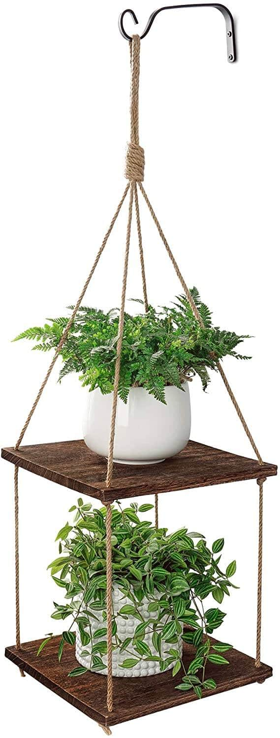 2 Tier POTEY Wood Planter Hanger (2 colors) $15.59 + Free Shipping w/Prime