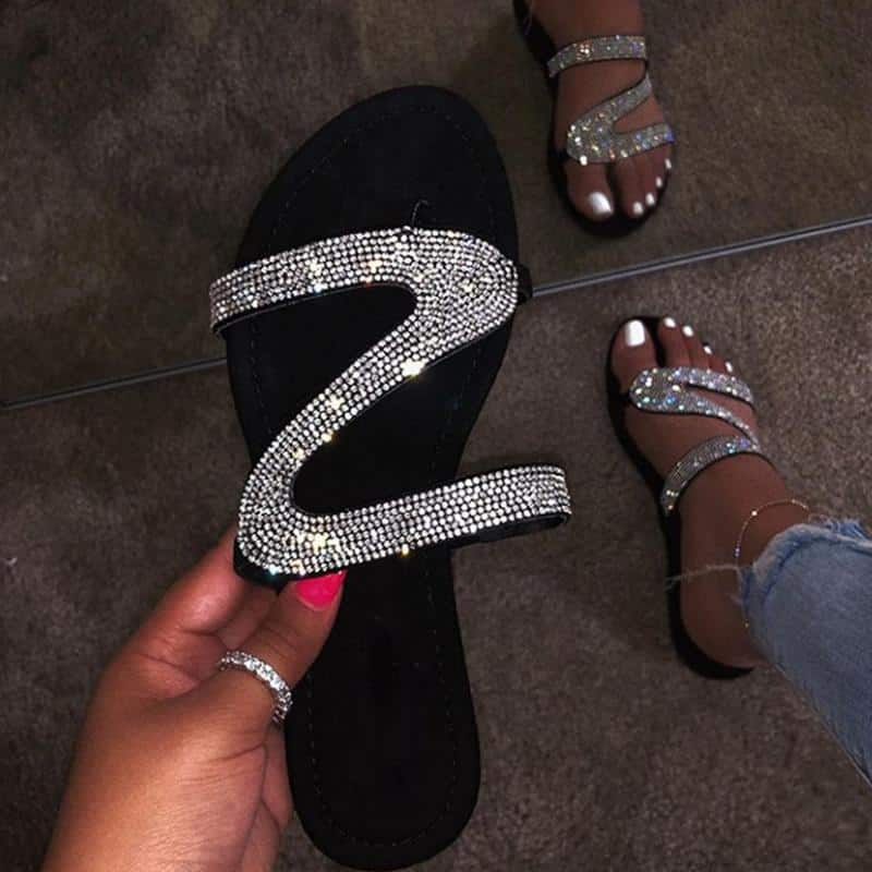 Women's Summer Flat Bling Slippers (4 colors) $7.82 + Free shipping on $40+