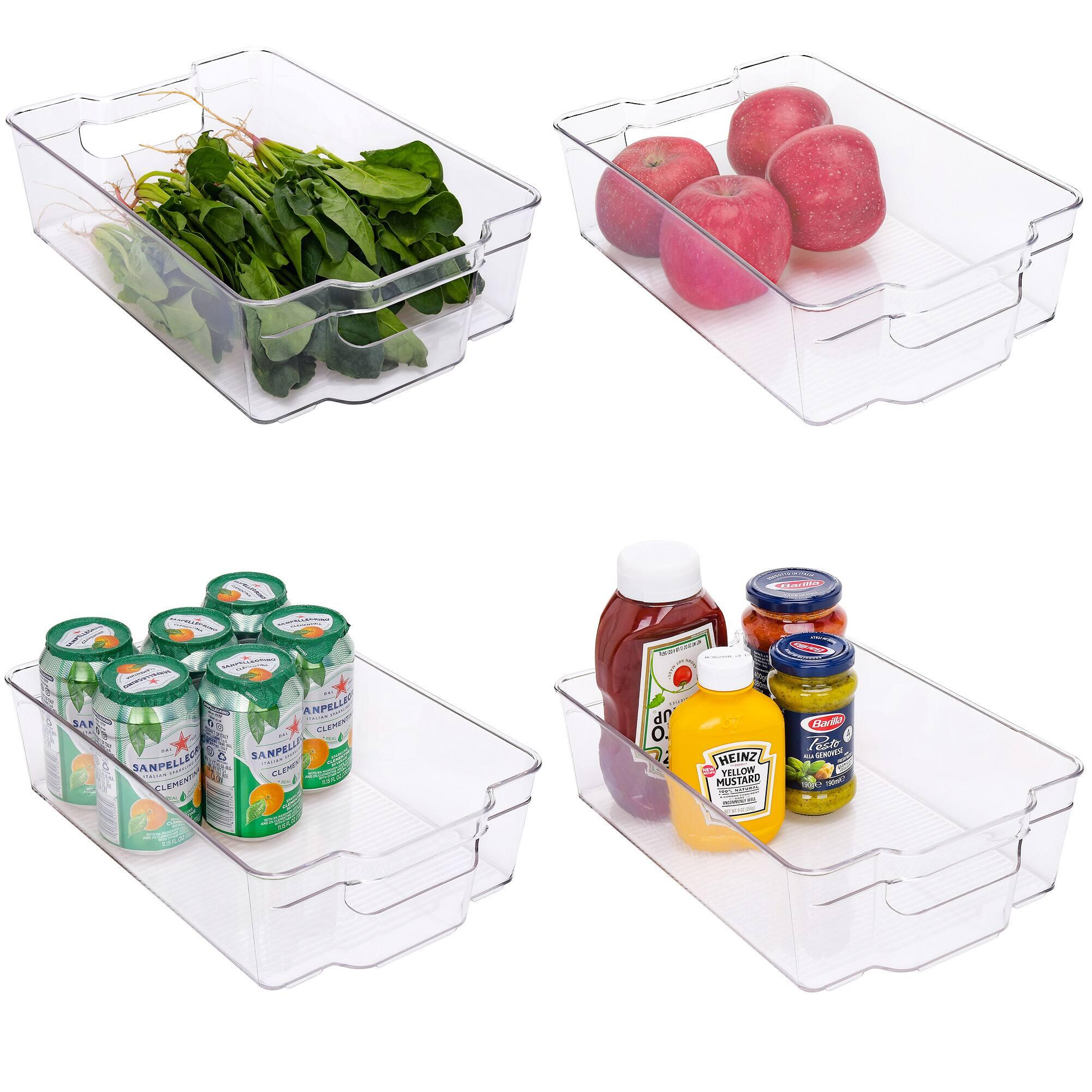 StorageWorks Stackable Fridge Organizer, Refrigerator Storage Bins, BPA-Free, 4-Pack $15.59 + Free Shipping w/ Amazon Prime or Orders $25+