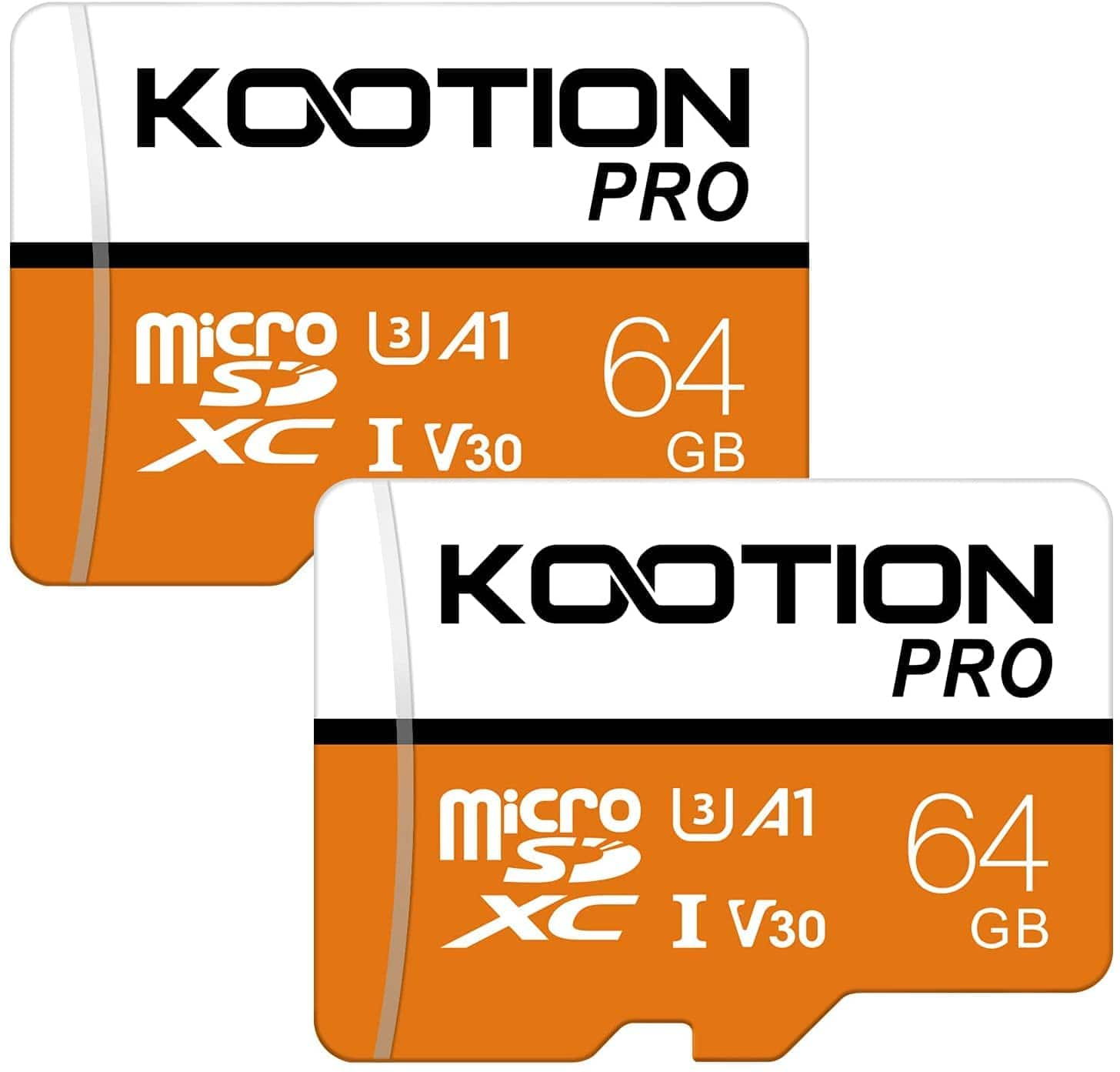 KOOTION 2-Pack 64GB Micro SD Memory Card U3 A1 V30 High Speed TF Card - $12.59 + FS w/ Prime or Orders $25+