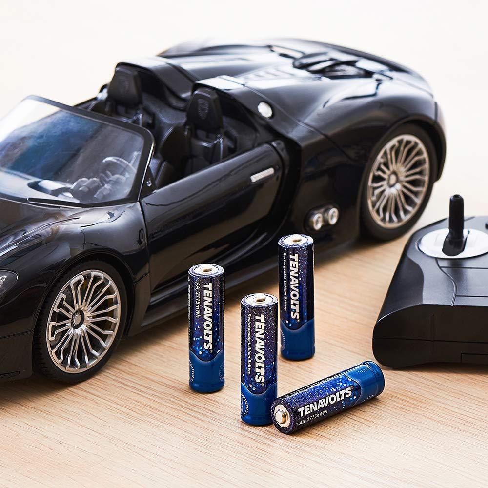 4-Count TENAVOLTS Rechargeable AA Lithium Batteries $8.84