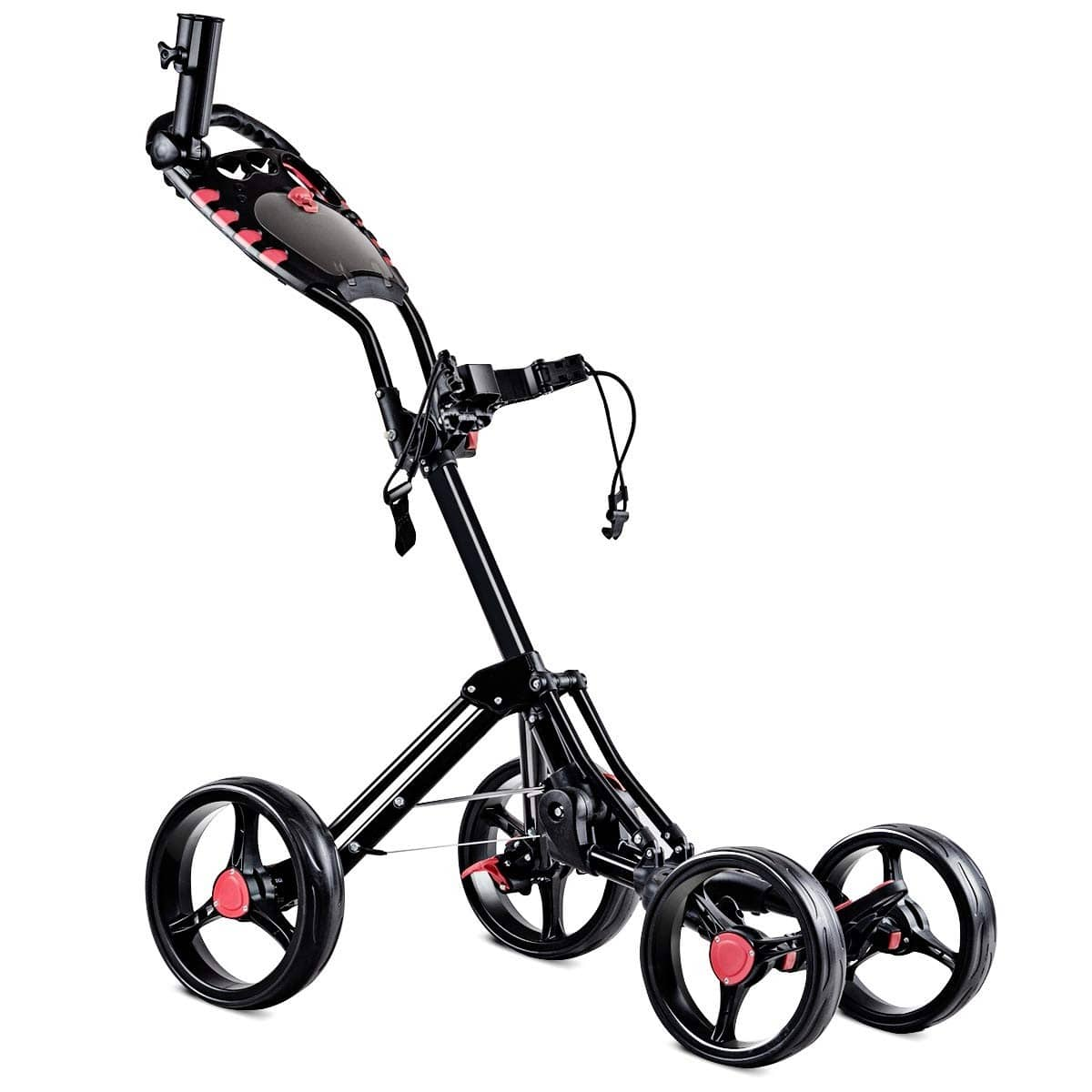 Folding 4 Wheels Golf Pull Push Cart Trolley - $115.95 + Free Shipping