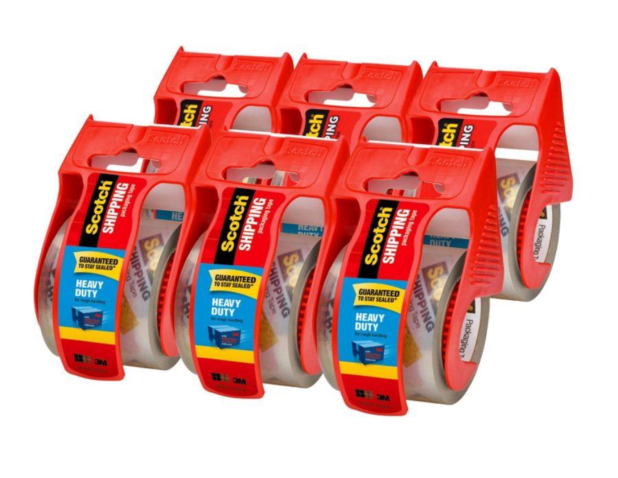 6-Pack Scotch Heavy Duty Packaging Tape w/ Dispenser : $9.59 AC + FS
