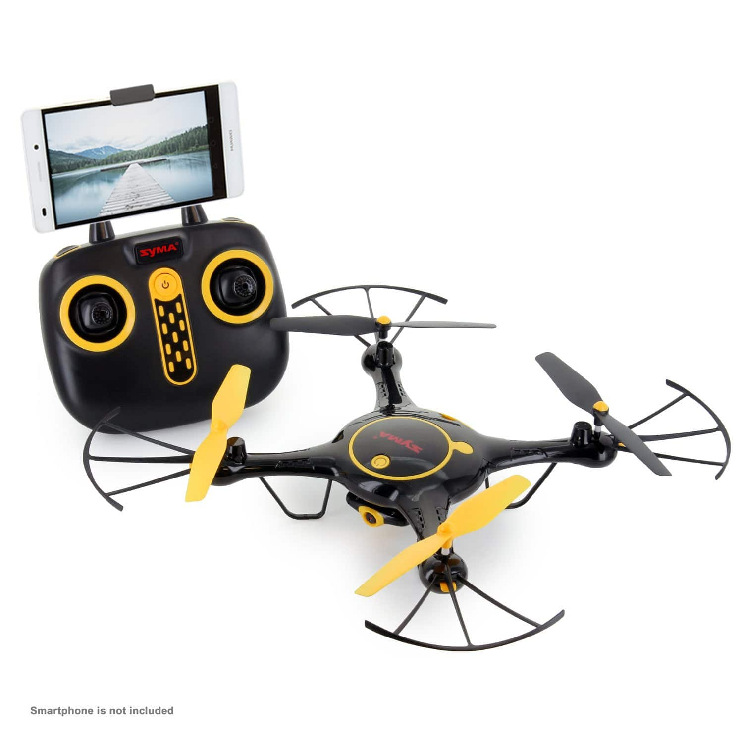 Tenergy Syma X5UW WiFi FPV Drone 720P HD Camera with 2 Batteries (Exclusive Black Yellow Color) - $19.99 + Free Shipping