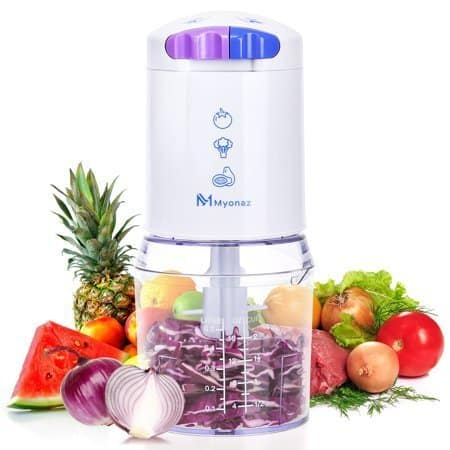 MYONAZ Mini Food Chopper 16 oz Processor with BPA-Free Bowl - $12.98 Walmart + FS