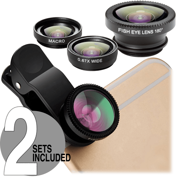 2-Pack: Power-to-Go 3-Piece Universal Lens Kits $12 + FS