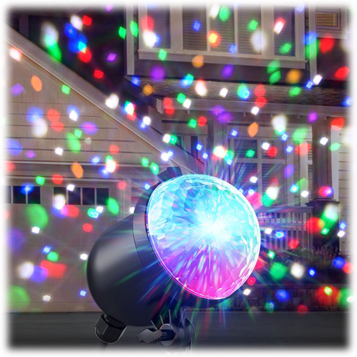 2-Pack: ION Holiday Party Plus Multicolor Projected Lights with Remote $39 + FS