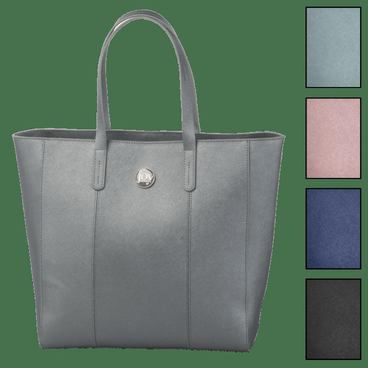 Joy Mangano Metallic Leather Tote $39 + FS