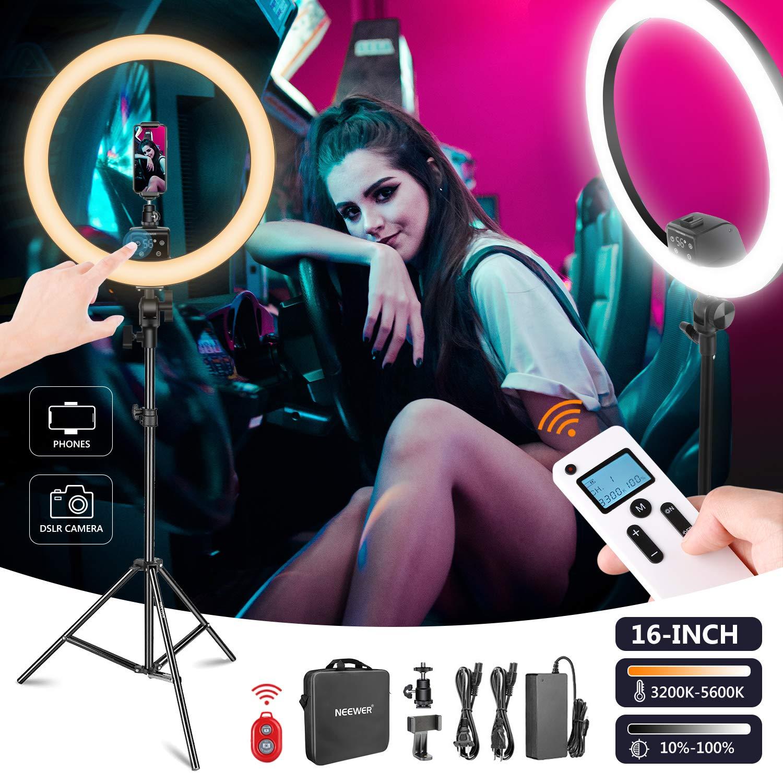 "Neewer 16"" Advanced LED Ring Light Kit, Wireless Control - $77.99 + Free Shipping"