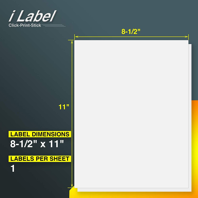 "50 Sheets 8.5"" x 11"" Full Sheet Sticker Paper for Laser & Inkjet Printers for $4.99 + FS with PRIME"