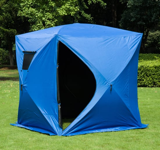 Outsunny 4 Person Pop-Up Ice Fishing Shelter with 2 Doors for $103.99 + Free Shipping