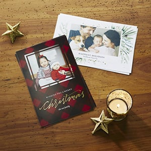 Vistaprint has up to 50% off Holiday Cards, plus an extra 25% off premium options