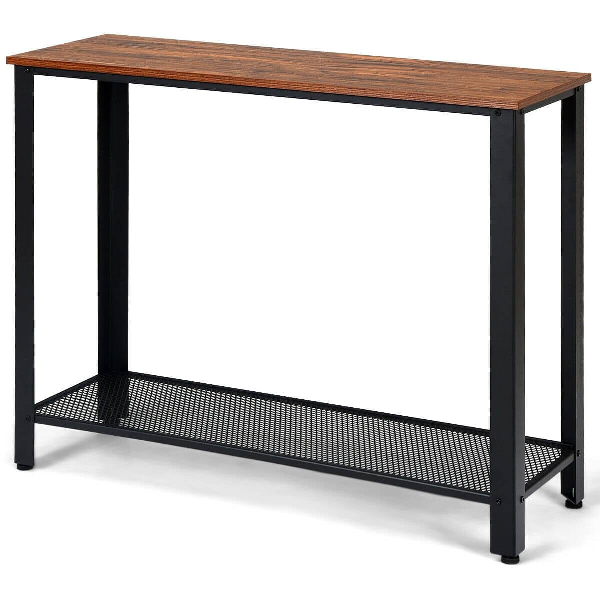 Metal Frame Wood Console Sofa Table with Storage Shelf - $50.00 + Free Shipping