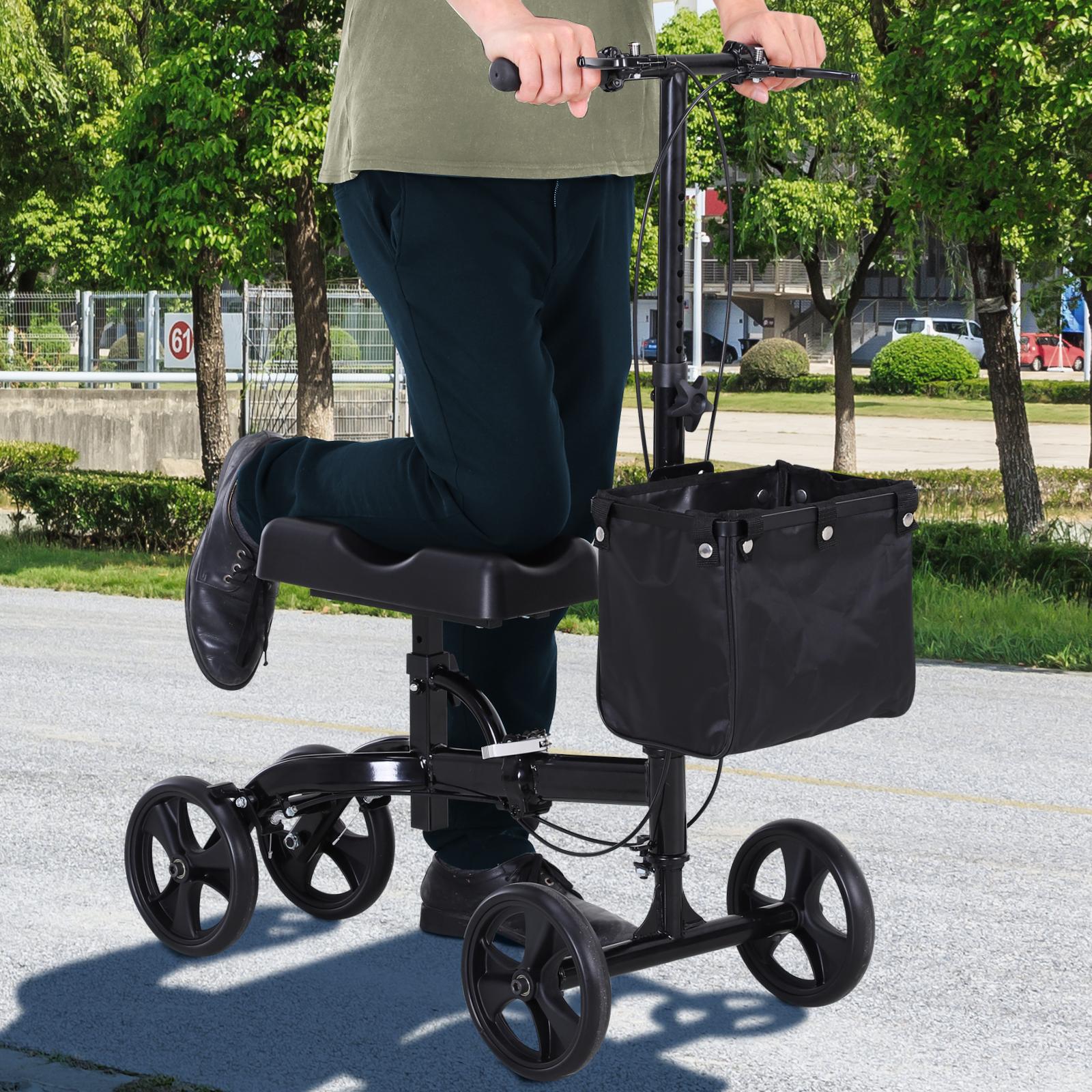 HOMCOM Foldable Dual Pad Steerable Leg Knee Walker Scooter - $84.99 + Free Shipping