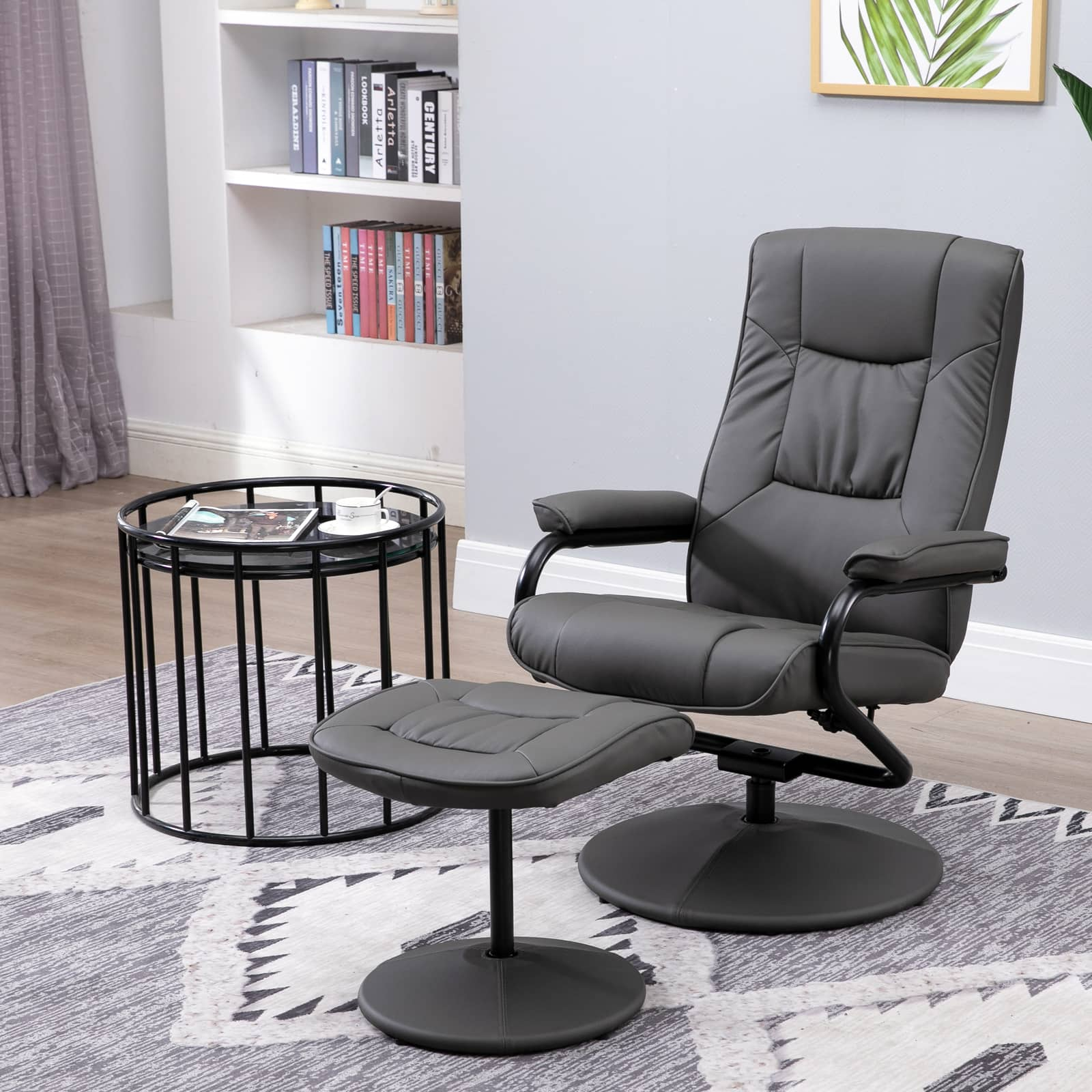 HOMCOM Faux Leather Recliner Chair and Ottoman Set - $99.99 + Free Shipping