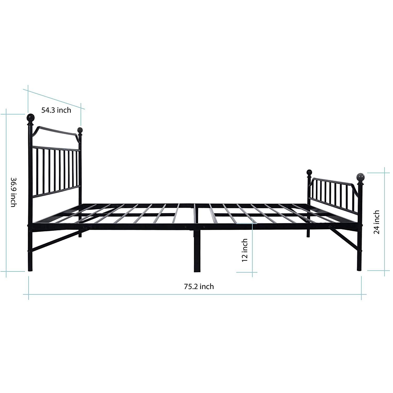 Best Price Mattress Full Bed Frame - 12 Inch, Black for $139.99 + FS
