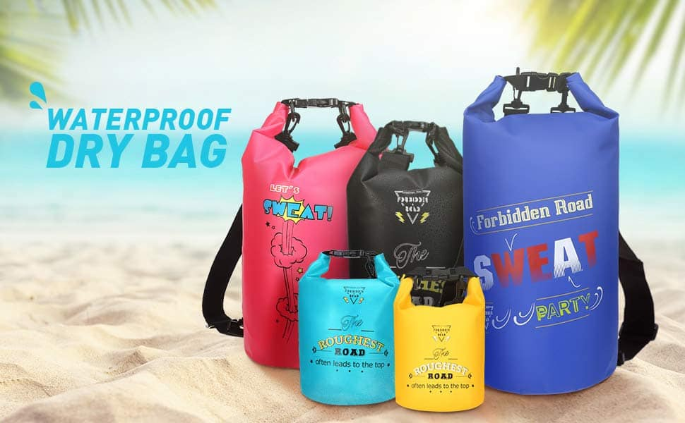 Forbidden Road Waterproof Dry Bag (Various Sizes & Colors) From $5.59