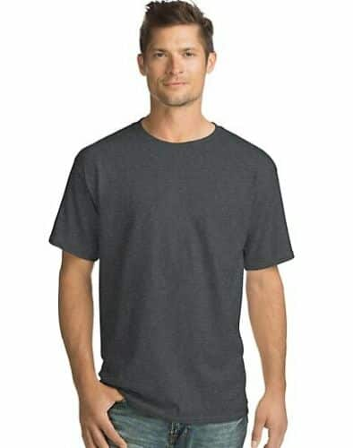 Hanes Men Crew neck T-Shirt 4-Pack ComfortSoft 100% Cotton Heavyweight Tee Plain - $19.32 + FS