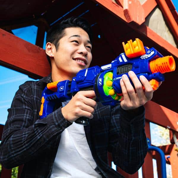Electric Motorized Blaster Toy w/ Accessories and 12 Foam Balls $17.99 + FS