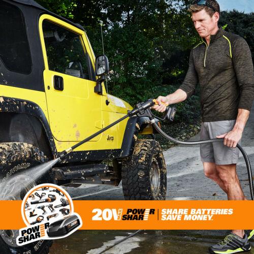 WORX WG629 20V Maxlithium Powershare Hydroshot DIY Portable Power Cleaner - $49.99 + FS